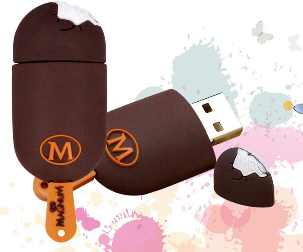 Flash Drive 4GB//8GB//16GB//32GB//64GB//128GB External Storage Thumb Drive USB Flash Drive Memory Stick Creative Ice Cream Shape Suitable for Laptop Desktop
