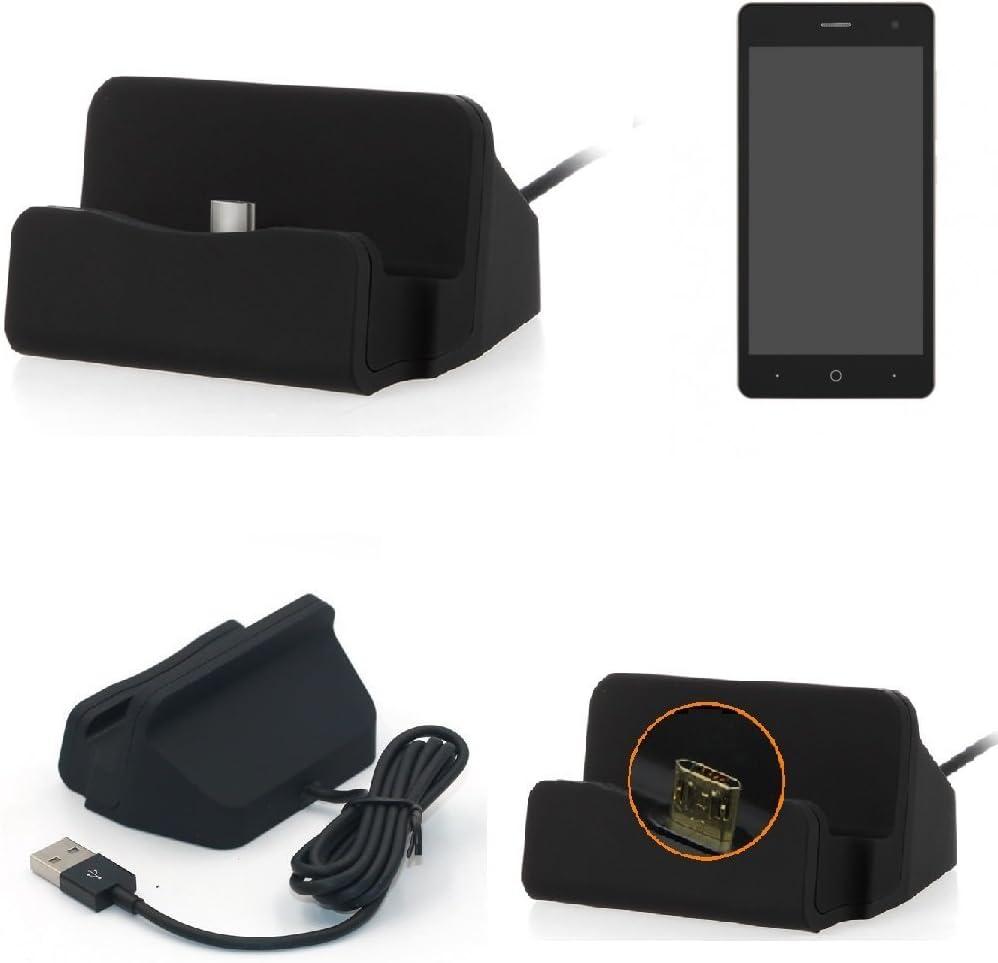 K-S-Trade Base De Carga Compatible con ZTE Blade L7 Micro USB Cargador Suporto Estación De Acomplamiento Mesa, Negro: Amazon.es: Electrónica