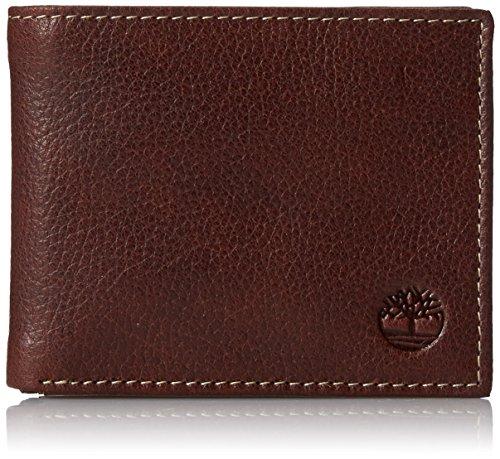 Timberland Men's Passcase Wallet Pebble Grain Leather Flip I