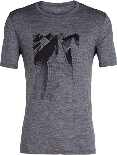 08058864d78 Amazon.com: Icebreaker Merino Men's Tech Lite Short Sleeve Crewe Geometry  of Geology Athletic T Shirts, Small, Gritstone Heather: Clothing