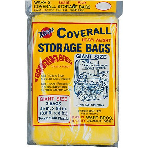Warp Brothers Cb-45 3 Warps Coverall Storage Bags Giant Size (Heavyweight Plastic Bags)