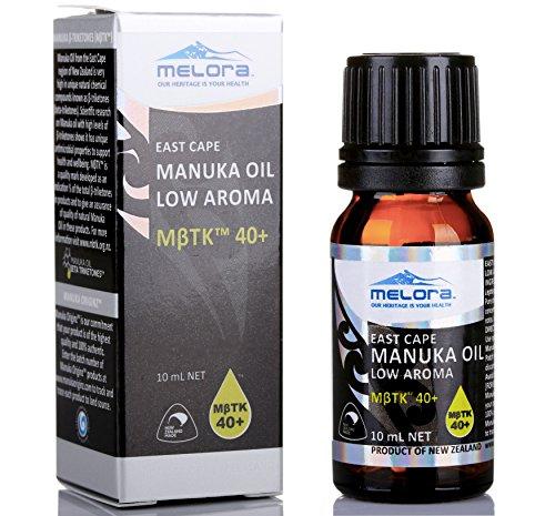 Melora Manuka Oil, MβTK 40+ Low Aroma,10ml 100% New Zealand East Cape Essential Oil