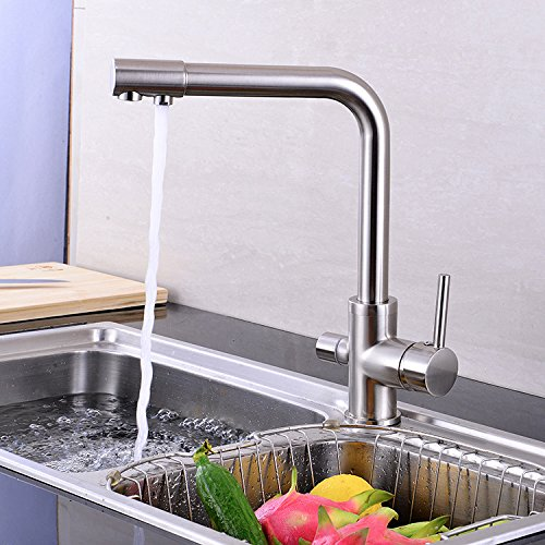 Plain Packaging is Not the Water Inlet Pipe Hlluya Professional Sink Mixer Tap Kitchen Faucet The three water kitchen faucet kitchen faucet modern single, plain packaging is not the water inlet pipe