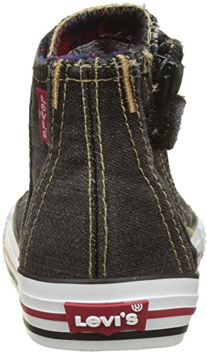 Levis Jungen Original Red Tab Hi Checker Hohe Sneaker Noir (Black Denim)