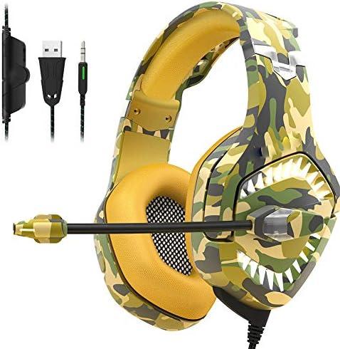 ゲーミングヘッドセット、マイク付きステレオオーバーイヤーゲーミングヘッドフォンヘッドホンヘッドホン-2