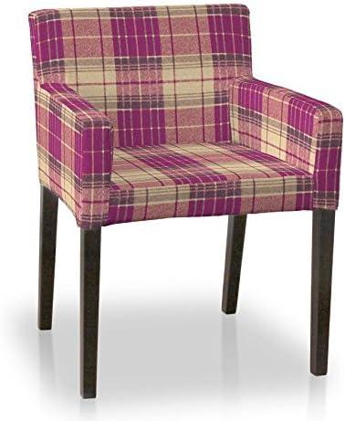 Dekoria Housse de Chaise IKEA NILS Rose et Beige à