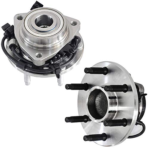 (IRONTEK Front Wheel Bearing and Hub Assembly 513188 Compatible for Ascender, Bravada, Envoy, Rainier, Trailblazer 6 Lug W/ABS Wheel Hub Bearing Assembly (2 PCS))
