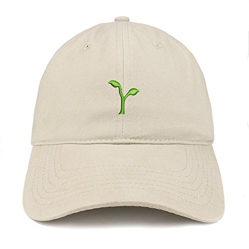 seeding-emoji-embroidered-100-soft-brushed-cotton-low-profile-cap-stone