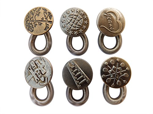 spring-button-waist-extender-antique-brass-metal-add-up-2-on-jeans-pants-instantly-6pcs