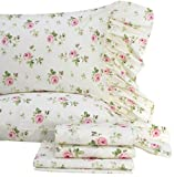 Queen's House Shabby and Chic Floral Bed Sheet Set 4-Piece Twin Size Bed Sets-Style I