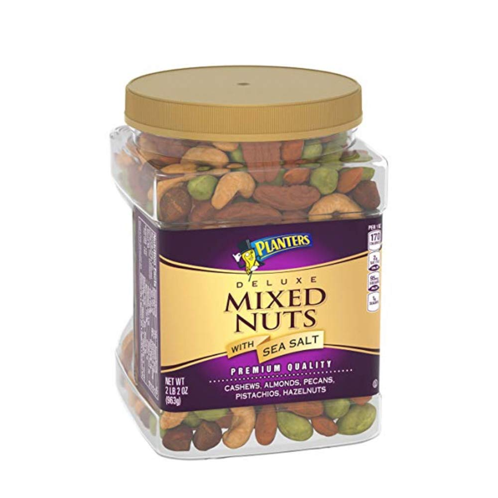 Planters Deluxe Salted Mixed Nuts (34oz Jar) (5 Pack) by Planters (Image #1)