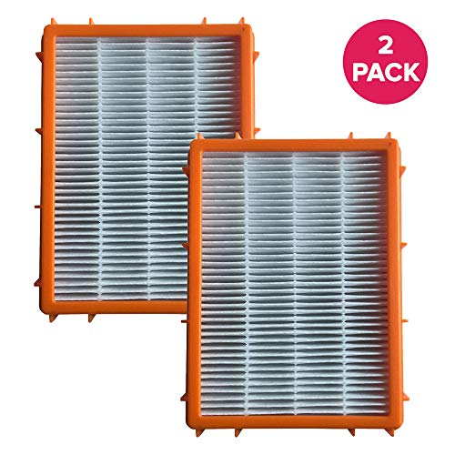 Crucial Vacuum Air Filter Replacement - Compatible with Eureka Part # 61111, 61111A, 61111B, 61111C, 61495 - Models HF2, HF-2 4870, 4870AT, 4870BT, 4870DT, 4870DT-2, 4870F, 4870F-1, 4870F-2 (2 Pack)