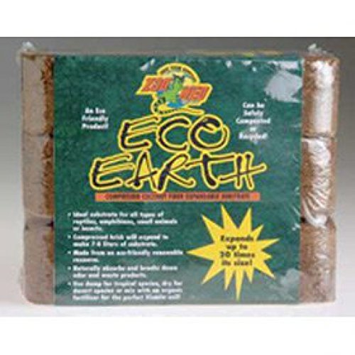 Brick Husk Coconut (Zoo Med Eco Earth Brick 3 Pack)