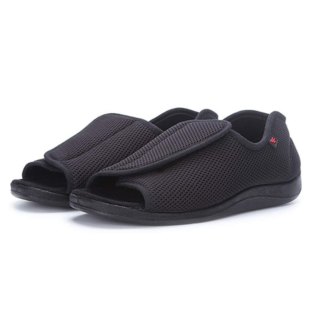 1893371a93fba AOIREMON Men's Diabetic Footwear Open Toe Extra Wide Slippers Adjustable  Orthopedic Shoes for Edema Swollen Feet Elderly Men.