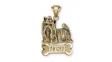 Amazon yorkie pendant jewelry 14k gold handmade yorkshire yorkie pendant jewelry 14k gold handmade yorkshire terrier pendant yk292x npg aloadofball Image collections