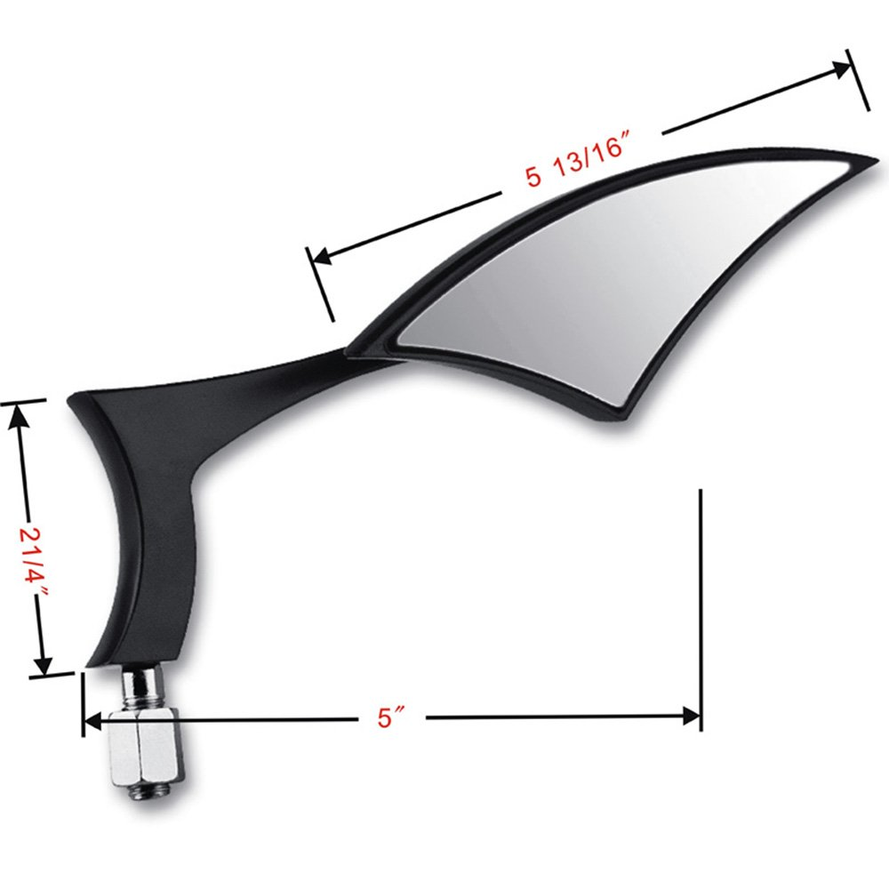 2X Black Spear Aluminum Custom Mirror For Harley Motorcycle Cruiser Chopper XL 883