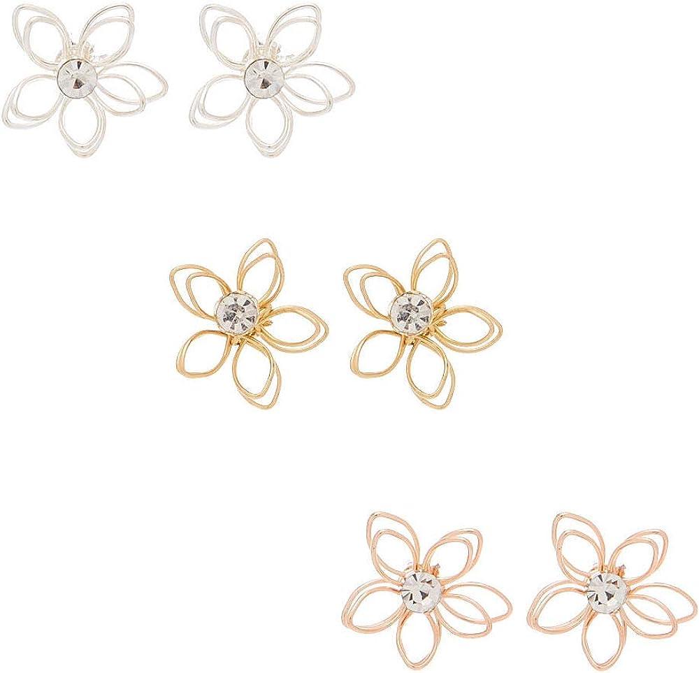 Claires Girls Glitter Llama Stud Earrings 3 Pack