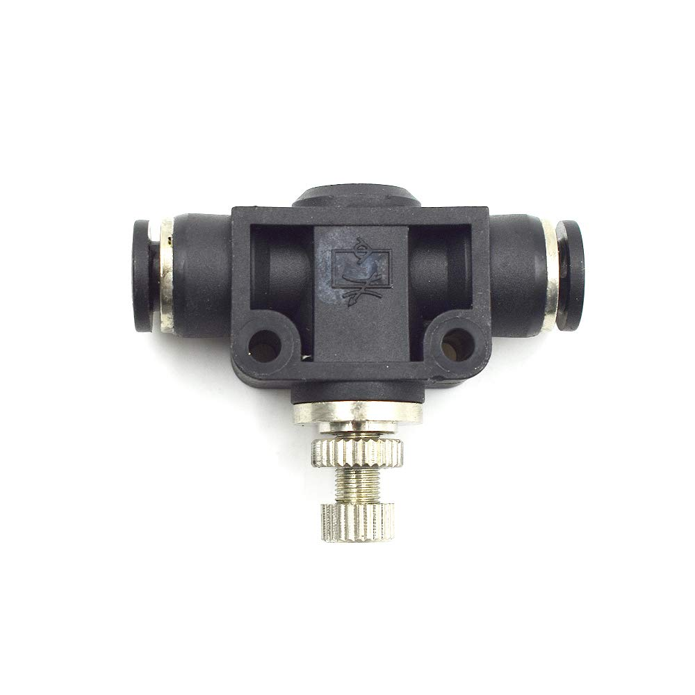 1//4 Tube OD x 1//4 Tube OD-1 Pcs in-Line Speed Controller Union Straight HONJIE 1//4 Air Flow Control Valve with Push-to-Connect Fitting