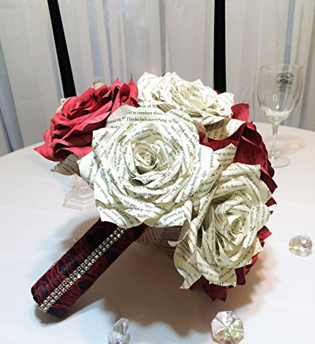 book-page-wedding-bouquet-in-color-and-size-of-your-choice