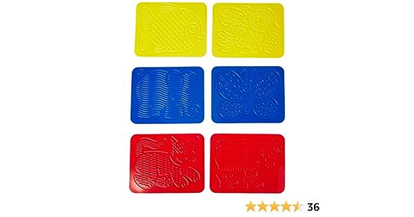 Op Art Rubbing Plates-Set Of Six