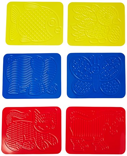Roylco Junior Animal Rubbing Plates with Guide, 8.5'' x 11'', Set of 6 by Roylco