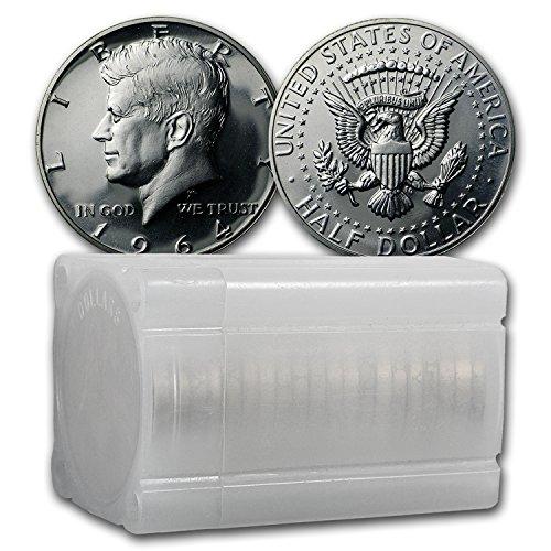 1964 Kennedy Half Dollar 20-Coin Roll Proof Half Dollar About Uncirculated (Dollar Half Roll Kennedy Proof)