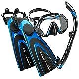 Atomic Aquatics Scuba Blade Fin, Venom Dive Mask, SV2 Snorkel Scuba Gear Package