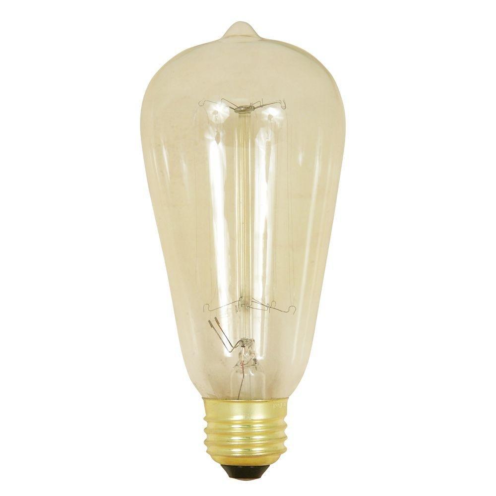 Feit Electric BP60ST19/RP 60 Watt 120 Volt Clear Vintage Style Light Bulb
