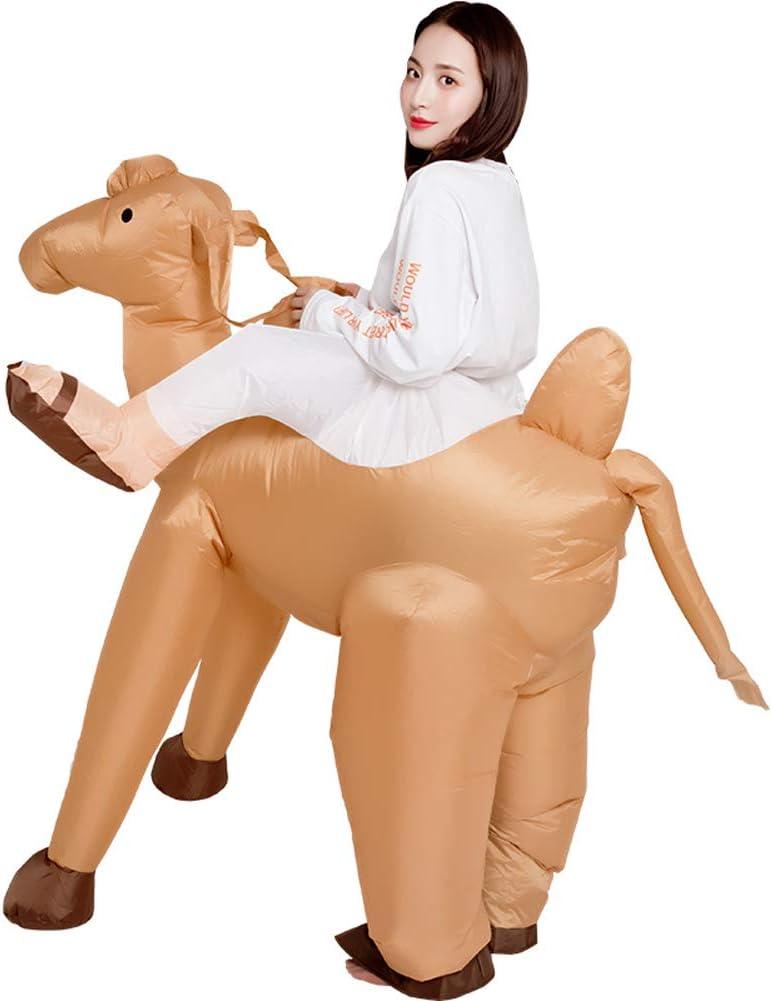 LTSWEET Disfraces Camello Inflable Adulto Fiesta Traje Inflatable Carnival Despedida de Soltero Cosplay Fancy Dress Costume Adecuado para 150cm - 190cm,Marrón