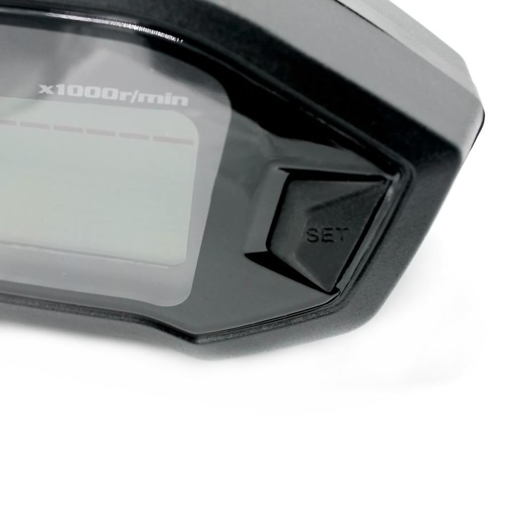 Dolity Moto Accessori Strumentazione Impermeabile Digitale Tachimetri con Sensori per Motocross