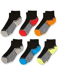 Boys' 6-Pair Half Cushion Ankle Socks