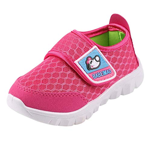 (Tantisy ♣↭♣ Baby Sneaker Shoes for Girls Boy Kids Breathable Mesh Light Weight Athletic Running Walking Casual Shoes Red)