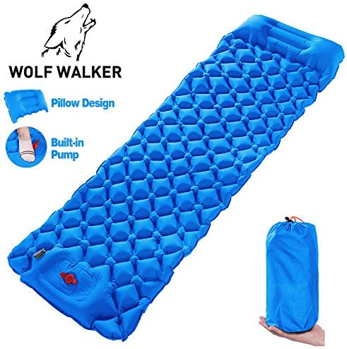Wolf Walker Sleeping Pad for Camping, Inflatable Camping Mattress, Camping Pad Lightweight Backpacking for Tent Traveling Camping Hiking