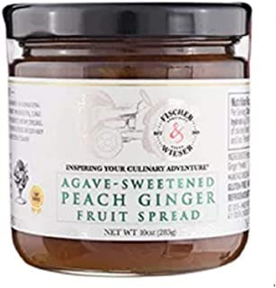 product image for Fischer & Wieser Agave-sweetened Peach Ginger Fruit Spread 10 Oz.