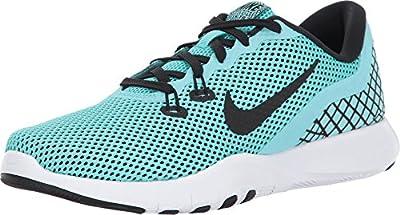 Nike Women's Flex Trainer 7 Print Cross-Training Shoes (7.5, Aurora Green)