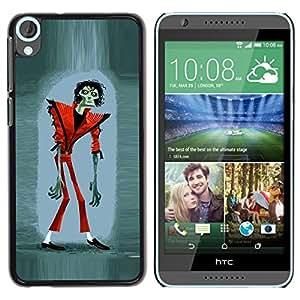 Caucho caso de Shell duro de la cubierta de accesorios de protección BY RAYDREAMMM - HTC Desire 820 - Halloween Funny Thriller