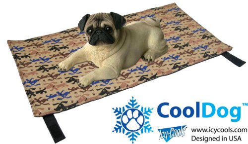 CoolDog Reusable Ice Mat for Keeping Dogs Cool in Summer by Icy Cools CoolDog