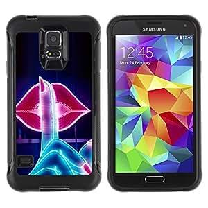 Suave TPU GEL Carcasa Funda Silicona Blando Estuche Caso de protección (para) Samsung Galaxy S5 V / CECELL Phone case / / Sign Kiss Lips Shush Sensual Red /