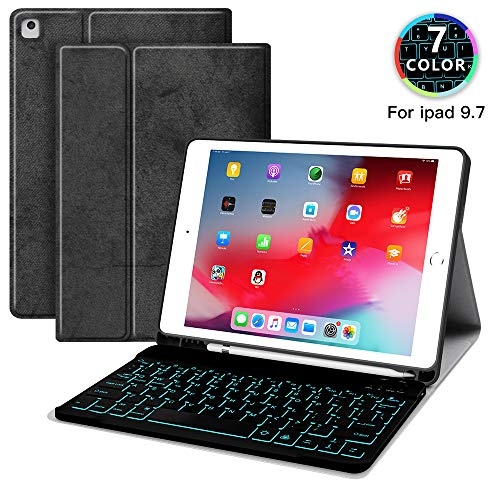 JUQITECH Backlit Keyboard Case 9.7 for iPad