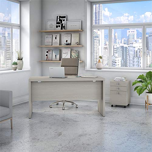 Kathy Ireland Echo Credenza Desk with File Cabinet in Gray Sand by Kathy Ireland Office by Bush Furniture (Image #2)