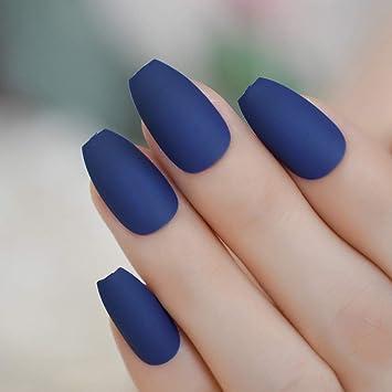 Amazon.com: Uñas de bailarina mate, color azul borgoña ...