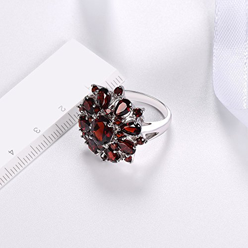 XBKPLO Rings for Women Pomegranate Ruby Diamond Wedding Accessories Jewelry Gift Size 6-10 (10) by XBKPLO (Image #2)