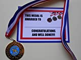 OUTSTANDING ACHIEVEMENT MEDALS WITH RIBBON AND CENTRE = GREAT QUALITY