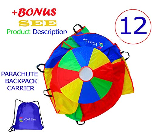 Used, VOMLine Play Parachute 12 Foot for Kids with Extra for sale  Delivered anywhere in USA