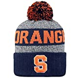 Top of the World NCAA 'Arctic' Striped Cuffed Knit Pom Beanie Hat-Syracuse Orange