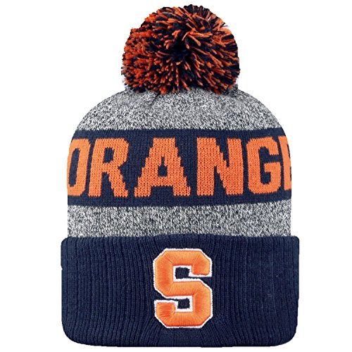 Top of the World NCAA Arctic Striped Cuffed Knit Pom Beanie Hat-Syracuse Orange