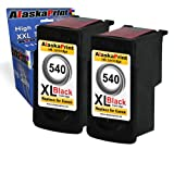 2x Black Ink Cartridges Replacement for Canon PG-540XL used in Canon PIXMA MG2100 MG2150 MG2200 MG2250 MG3100 MG3150 MG3155 MG3200 MG3250 MG3550 MG3600 MG3650 MG4250 MX375 MX395 MX435 MX455 MX475 MX515 MX525 MX535 printers