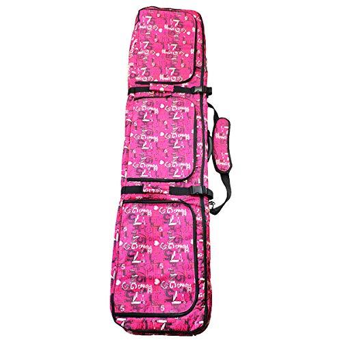 Linkin Sport Padded Snowboard Bag 65in Soft Snowboard Case Carry Bag (Pink, 61.5in) (Bag Pink Snowboard)