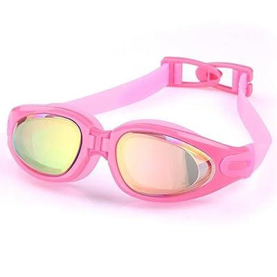 HD lunettes de natation anti-buée galvanoplastie grande boîte mode lunettes de natation confortables unisexe noir bleu violet rose , a5