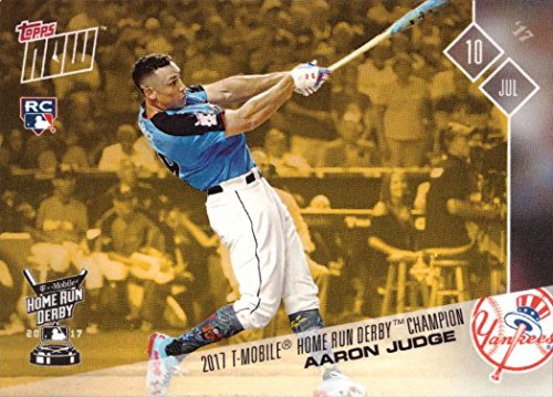 2017 Topps Now Bonus #HRDB-1 Aaron Judge Baseball Rookie Card - 2017 Home Run Derby Champion - Only 4,039 made!
